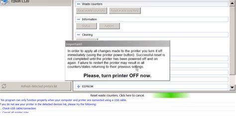 aplikasi reset printer epson l120 cara memperbaiki lampu merah epson l120 berkedip kedip
