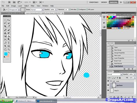 draw program online anime eyes tutorial step by step coloring drawing