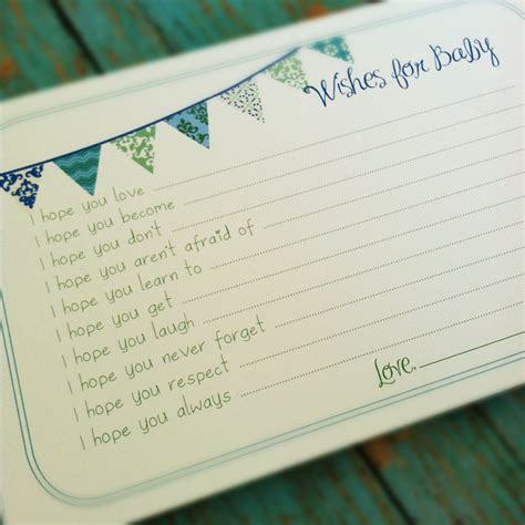 Baby Shower Memory Book Ideas printable wishes for baby boy cards unique baby shower