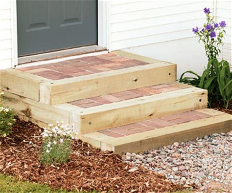 Diy Patio Steps by Steps With Timbers And Brick Sand Set Mortared Patios