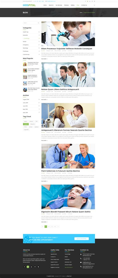 blogger templates for hospital hospital professional hospital services psd template by