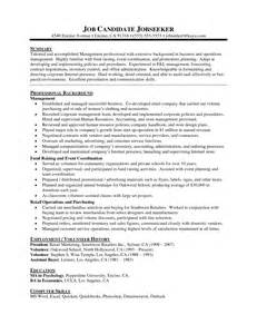relevant experience resume sle