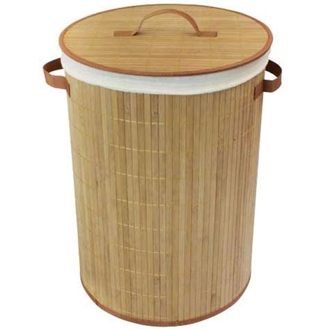 Round Bamboo Wooden Laundry Basket With Lid Wooden Laundry With Lid