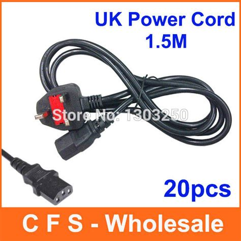 20pcs uk power cable uk power cord three wire cable