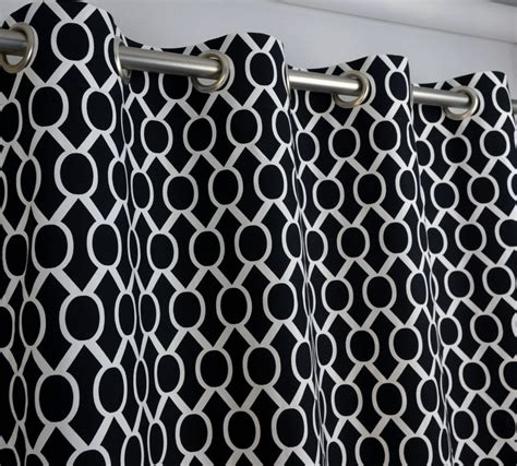 Black And White Trellis Curtains Total Fab Modern Black And White Geometric Themed Bedding And Curtains