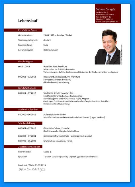 Lebenslauf Englisch Muster Ausbildung 6 Lebenslauf Muster Ausbildung Business Template