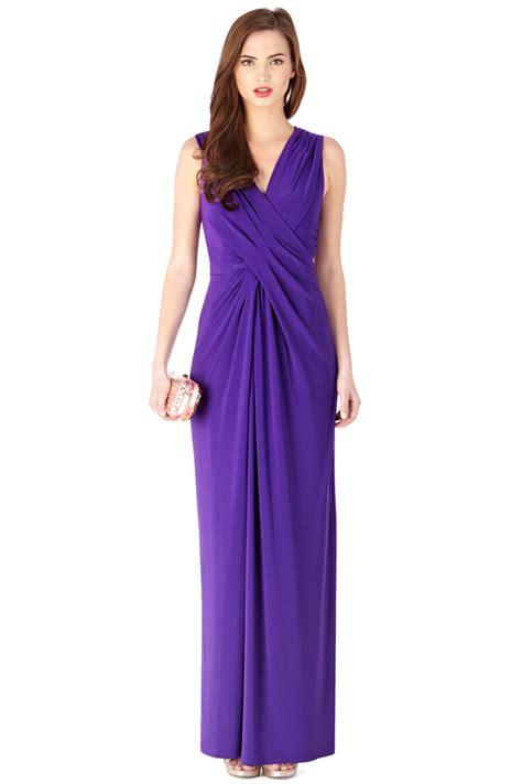Dress Monna coast mona jersey maxi dress in purple lyst