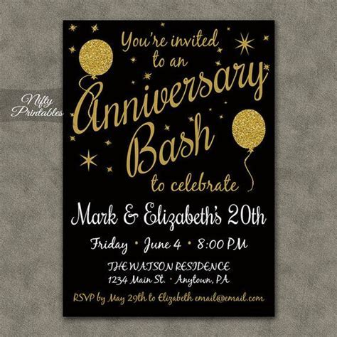 25  best Anniversary invitations ideas on Pinterest