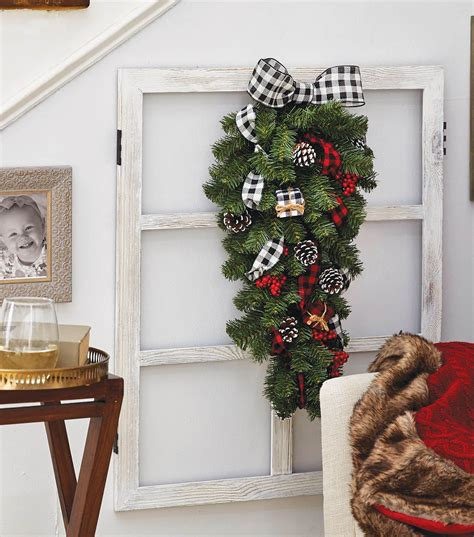 holiday teardrop wreath christmas wreaths