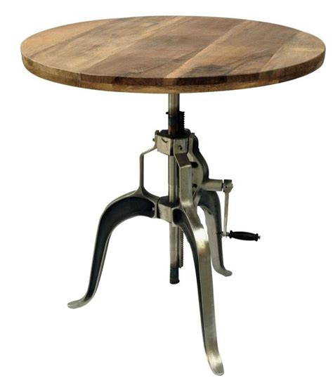 Hooker Dining Room Furniture by Industrial Adjustable Crank Dining Table With Mango Wood