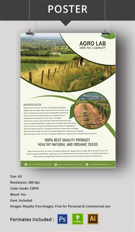 16 Agriculture Templates Designs Free Psd Ai Cdr Html Format Download Free Premium Free Agriculture Flyer Templates