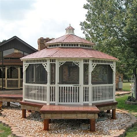 octagon gazebo octagon vinyl gazebos country gazebos