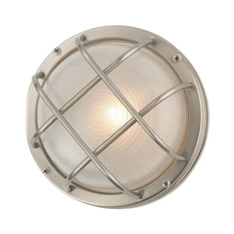 Bulkhead Lights Outdoor Bulkhead Marine Outdoor Ceiling Wall Light 8 Inches Wide 39456 Ss Destination Lighting