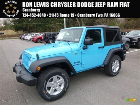 jeep chief color 2017 chief blue jeep wrangler sport 4x4 119883675 photo