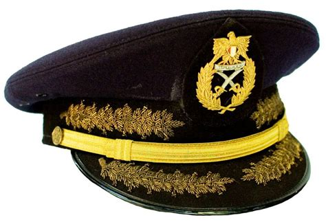 egyptian army generals ceremonial visor cap military