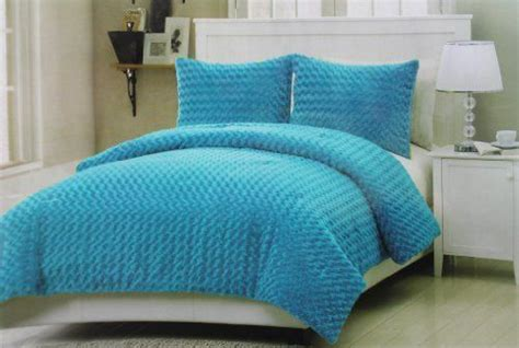 blue rose comforter set 3 pc modern blue rose fur full size bedding