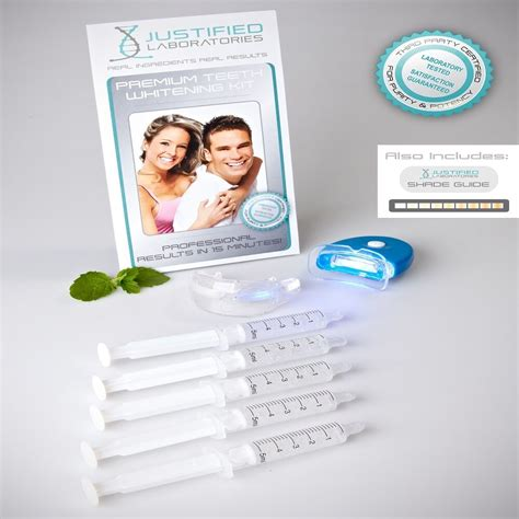 teeth whitening kit  carbamide peroxide  gel blue uv