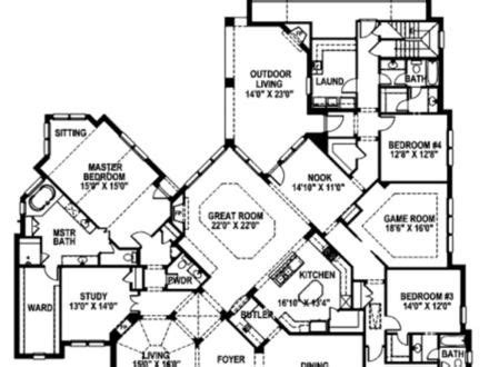 unique one story floor plans 1 story 5 bedroom house plans 1 5 story home styles one