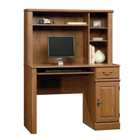 Home Computer Desk With Hutch Computer Desk Home Office Workstation Table With Hutch In Milled Cherry