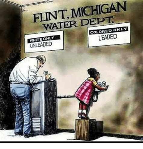 colored only flint michigan water dept colored only white only unleaded