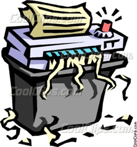 paper shredder office paper shredder vector clip art
