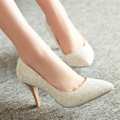 White And Gold Wedding Shoes by And Autumn Paillette White Gold Wedding
