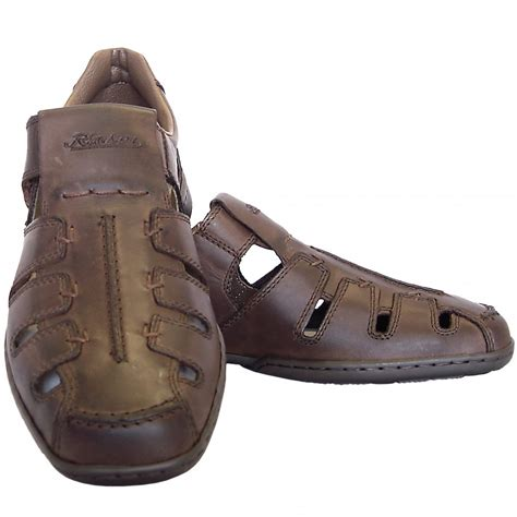 summer mens boots rieker glen s casual summer shoes in brown leather
