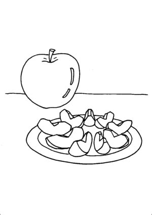 apple slices coloring page apple and apple slices coloring page