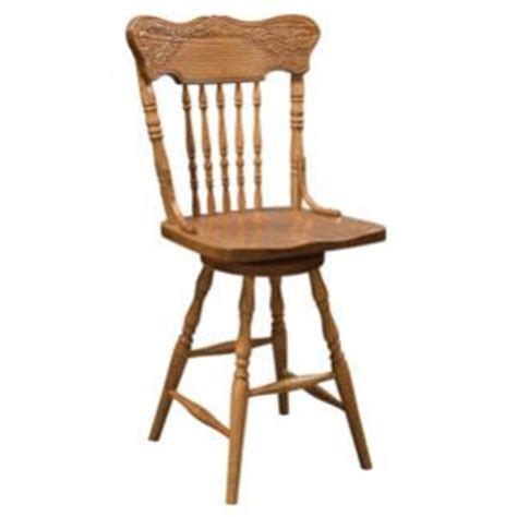 Amish Oak Bar Stools by Amish Heritage Colonial Meadow Swivel Counter Stool