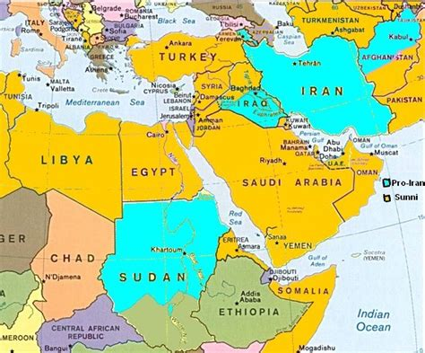 middle east map of countries and capitals map of middle eastern countries and capitals