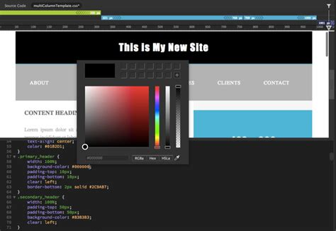 change background color css how to change background color of website in dreamweaver css