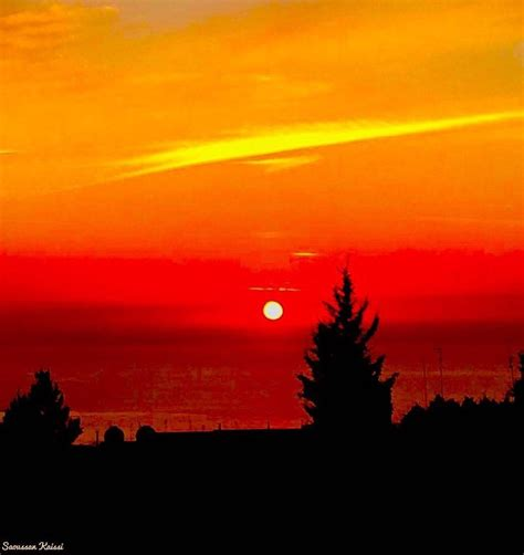 sunset color sunset colors black orange sea lebanon in a picture