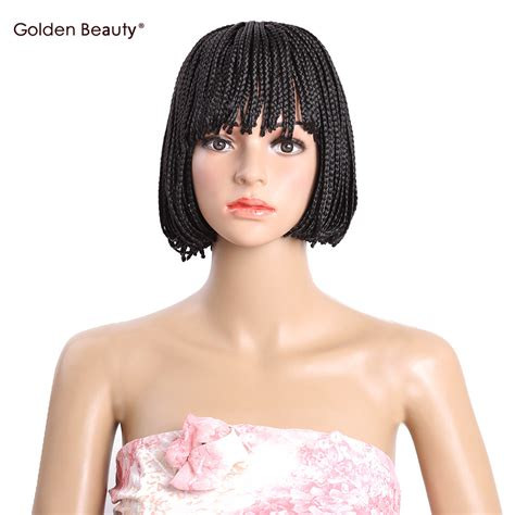kaylis box braided wigs aliexpress com buy bob wig with bangs short synthetic