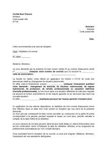 Exemple De Lettre De Demande D Apprentissage Exemple Gratuit De Lettre R 233 Siliation Contrat Assurance Sant 233 Changement Situation Personnelle