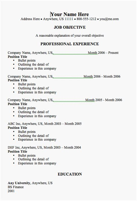 how to write a resume template resume templates