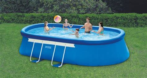 intex  ft   ft    oval metal frame pool set