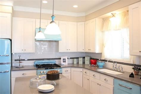 rustic kitchen love the blue retro appliances with the the real life quot up quot movie house interior photos hooked