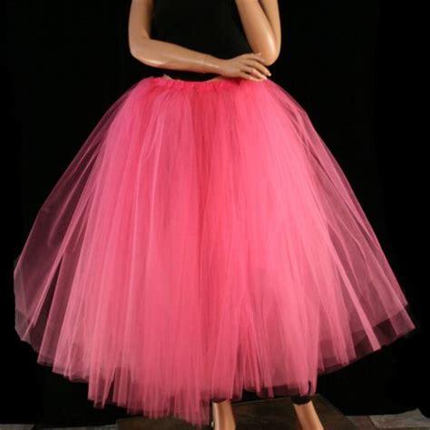 Pink Skirt Tutu Kaca floor length tutu skirt pink petticoat