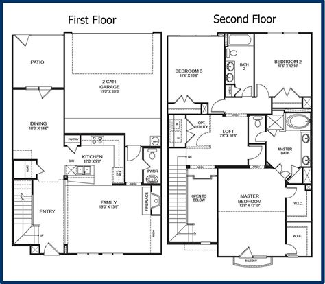 two storey floor plan the parkway luxury condominiums