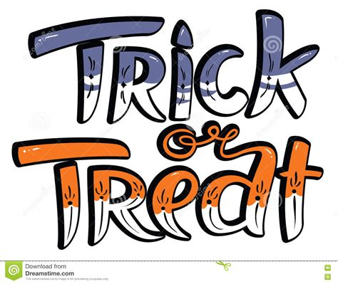 Trick Or Treat Letters trick or treat lettering composition stock