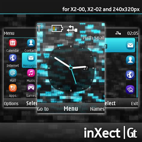 black theme for nokia c3 00 and x2 01 wb7themes nokia s40 theme inxect for x2 00 x2 02 and 240 215 320 px