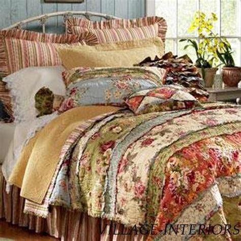 California King Cotton Quilt by Garden Chic Shabby Rag Ruffle Cal King King Quilt Set 100 Cotton Gardens Quilt Sets