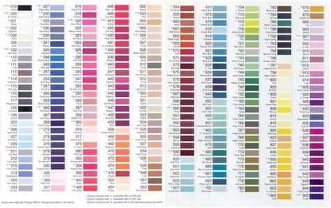gutermann thread color chart arrange by color colour chart paint colors and colors