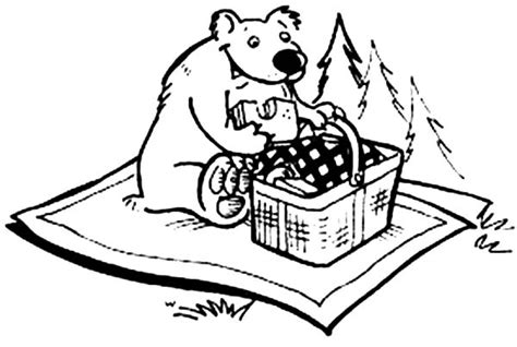 chicken sandwich coloring page bear eating picnic sandwich coloring page netart