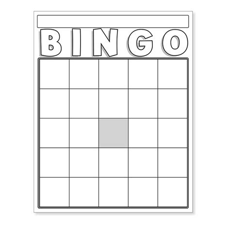 free blank bingo card template for teachers more views