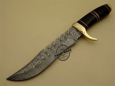 steel knives damascus bowie knife custom handmade damascus steel