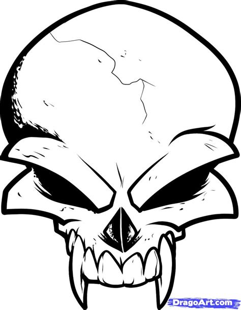 dragoart tattoo draw a skull design skull design step by