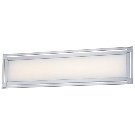 integrated led vanity light george kovacs framed 35 watt chrome integrated led bath