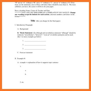 Outline For Research Paper Generator by Apa Paper Outline Sow Template