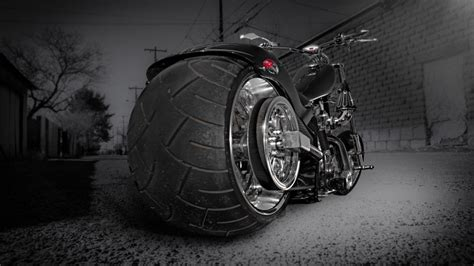 black and white motorcycle wallpaper chopper motorcycle hd wallpaper wallpaperfx
